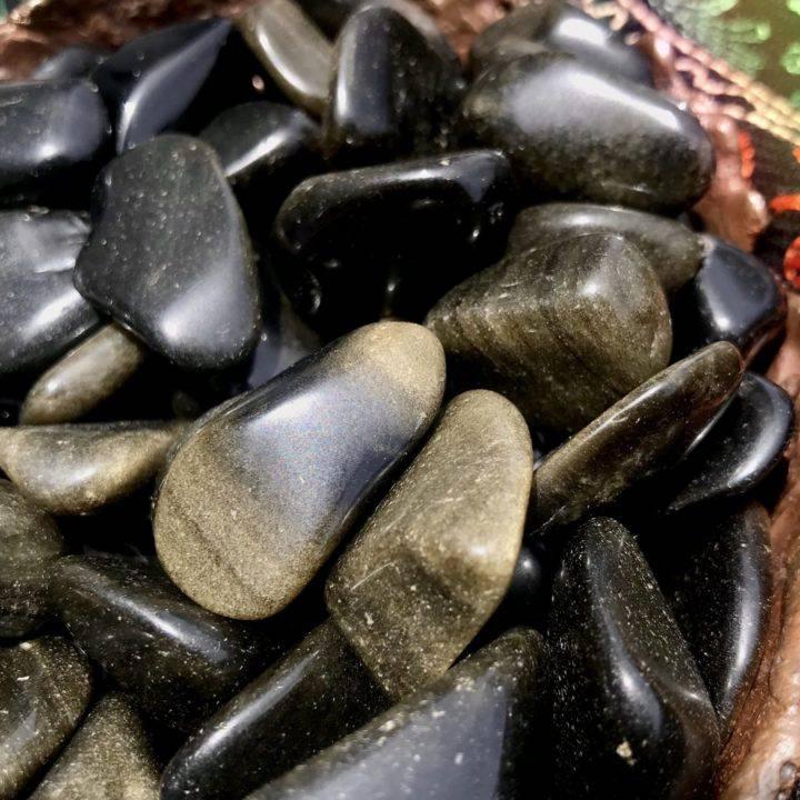 Tumbled Golden Sheen Obsidian
