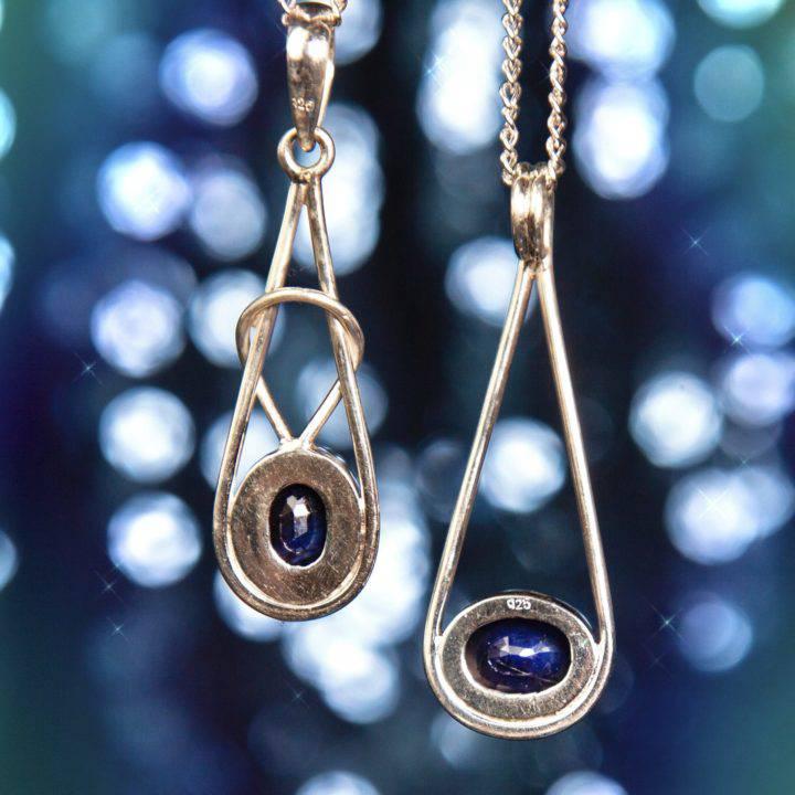 Wise Sage Sapphire Pendants