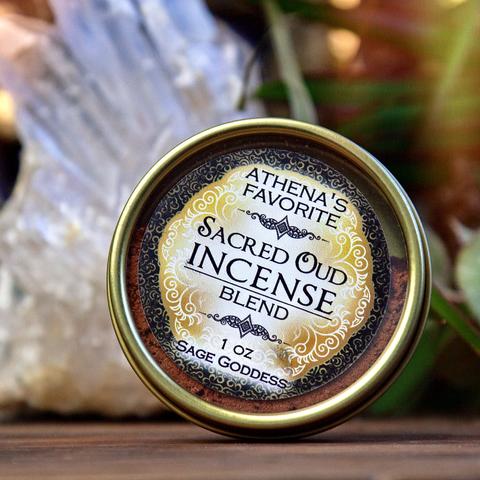 Athenas Favorite Sacred Oud Incense Blend