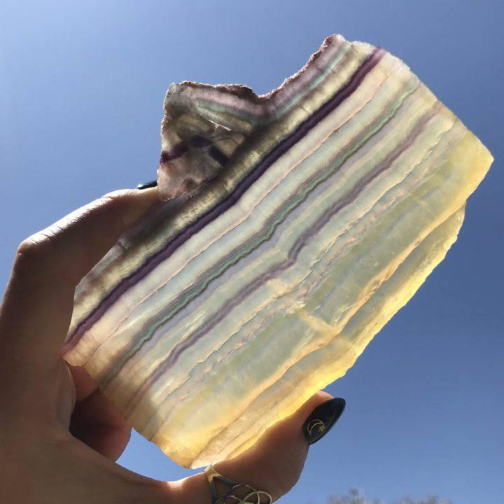 Argentinian Yellow Fluorite Prosperity Plates