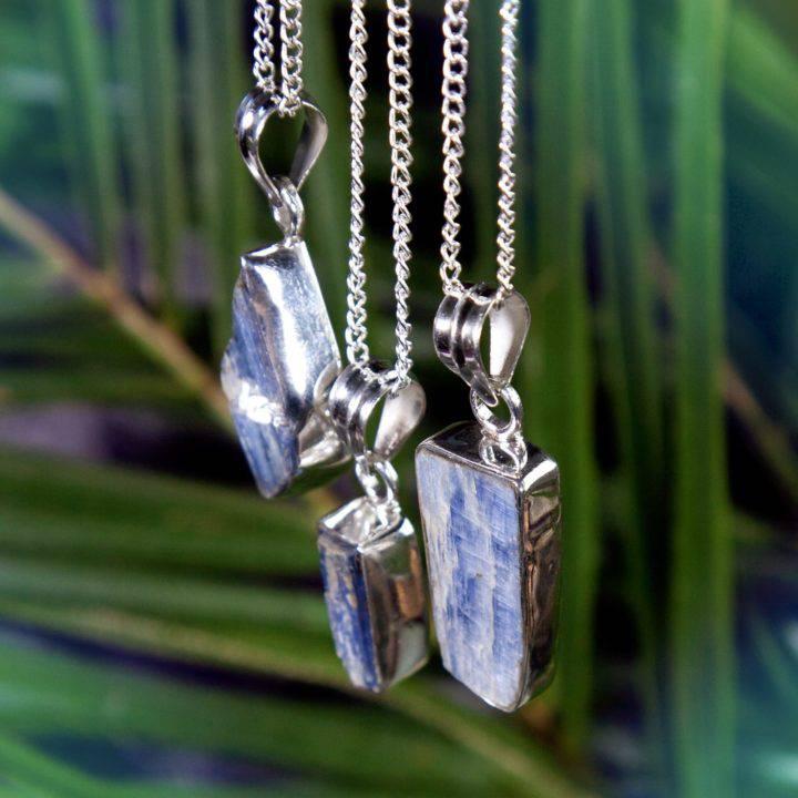 Divine Alignment Blue Kyanite Pendants