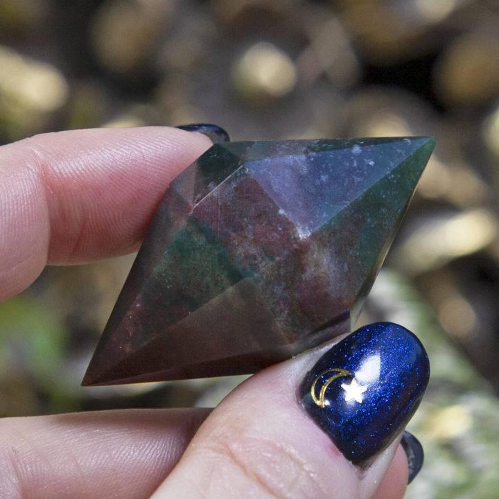 Double Terminated Bloodstone Extractor Diamonds