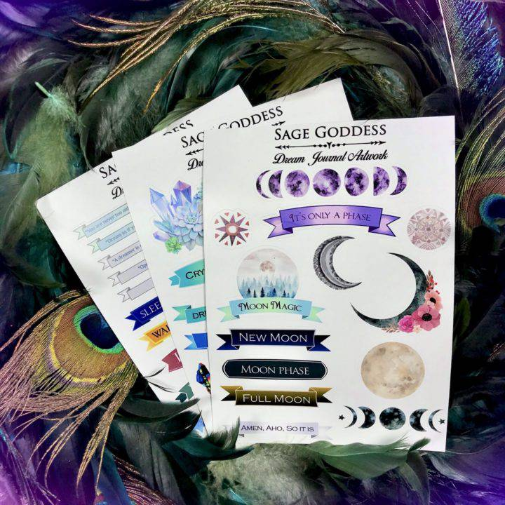 Dream Journal Sticker Sheets