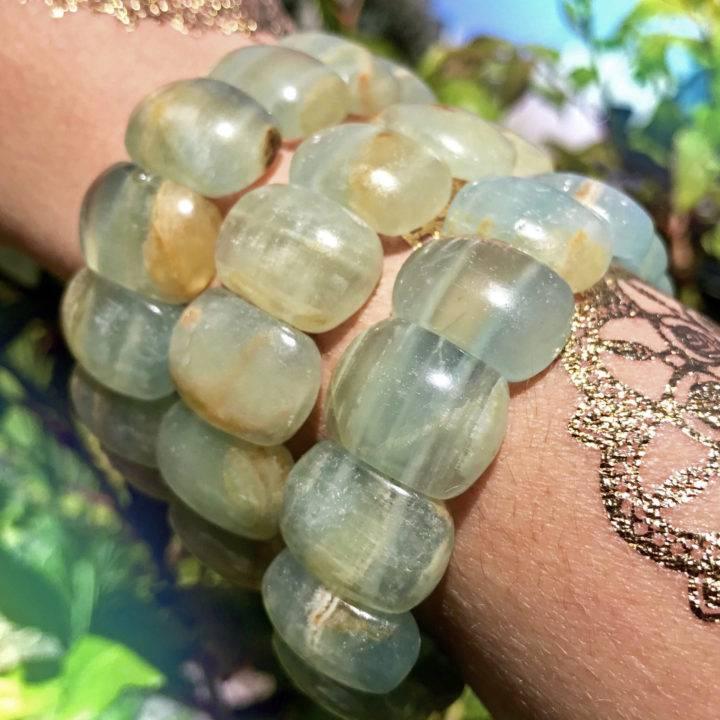 Lemurian Blue Calcite Spiritual Ascension Bracelets