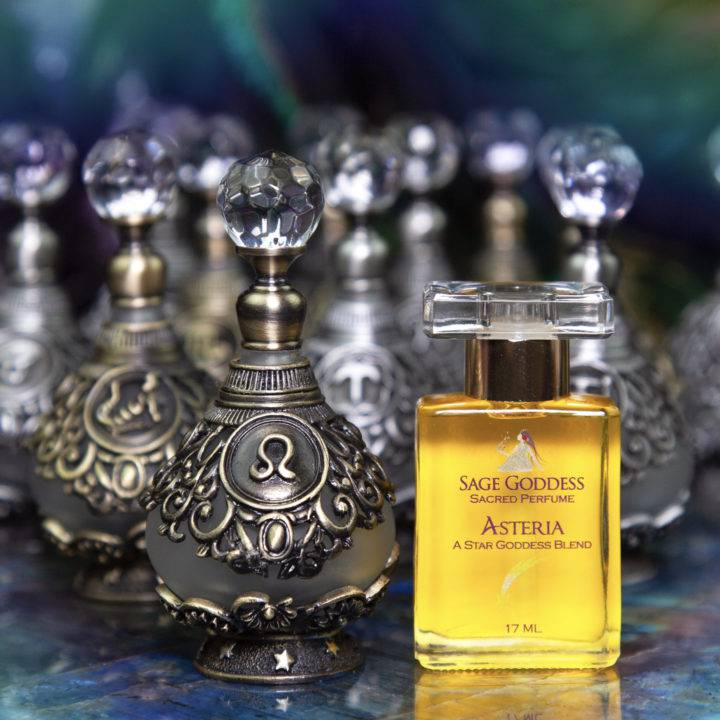 Zodiac Sign Perfume Bottles with Asteria Perfume