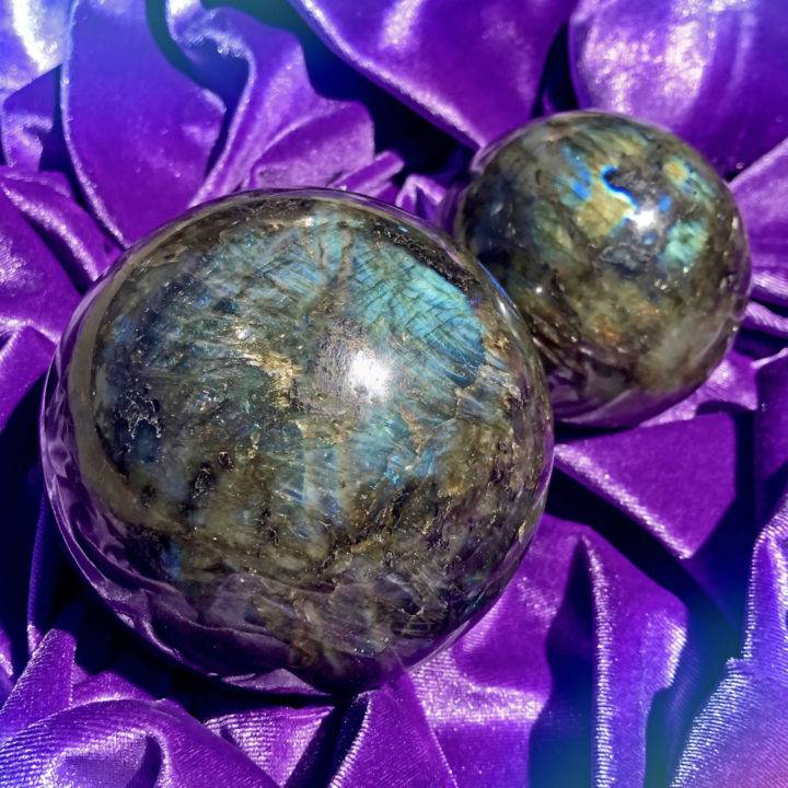 Labradorite New Moon Wishing Spheres