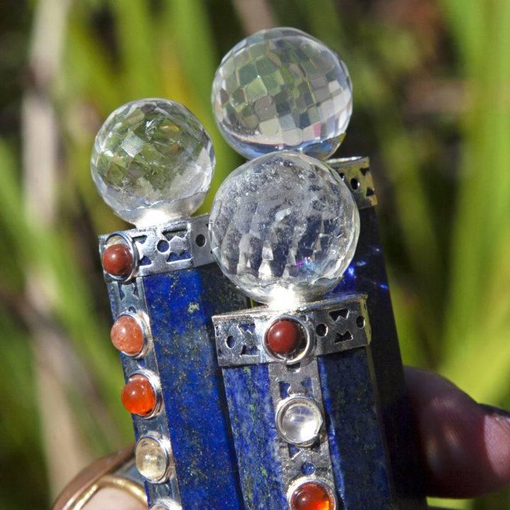 Lapis Lazuli 9 Chakra Pocket Wands