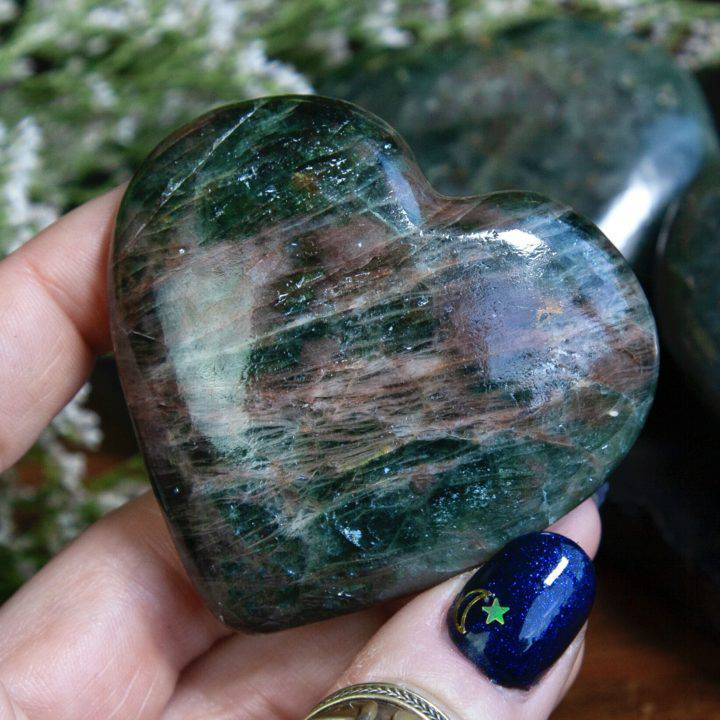Green Diopside Healing and Recovery Hearts
