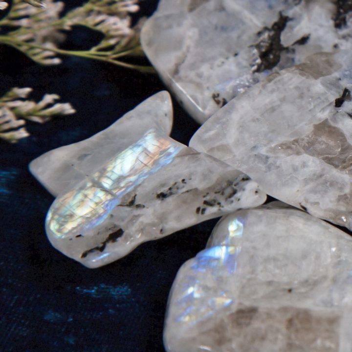 Rainbow Moonstone Lunar Goddess Slices