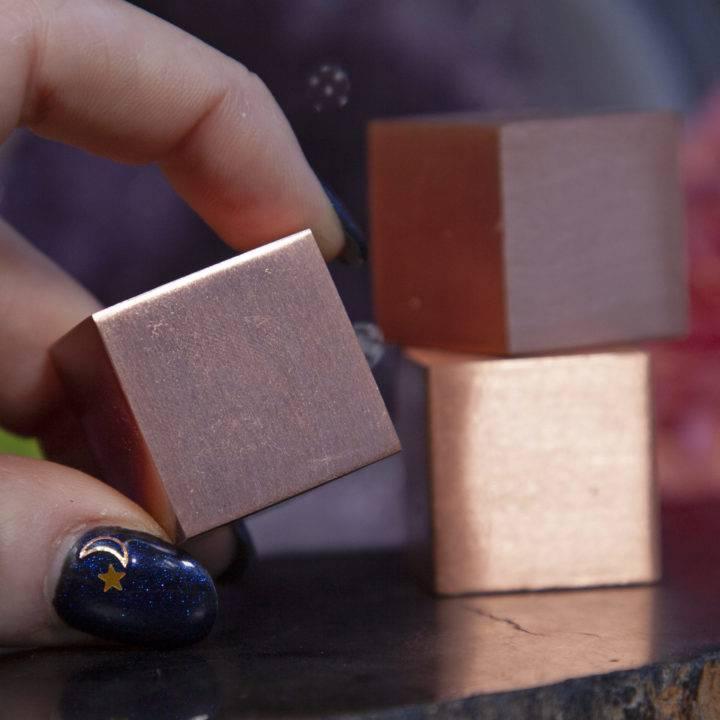 Energy Grounding Copper Cubes