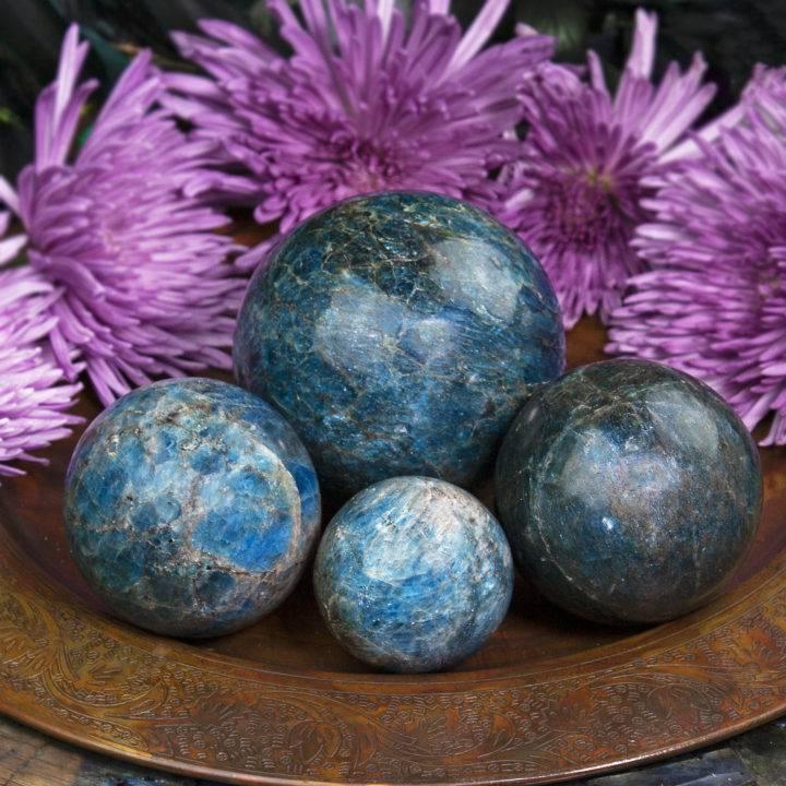 Blue Apatite Spirit Guide Spheres