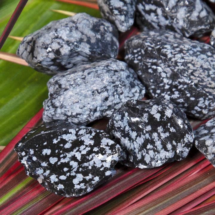 Natural Snowflake Obsidian