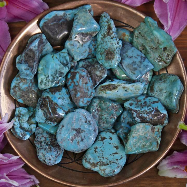 Polished Turquoise Slices