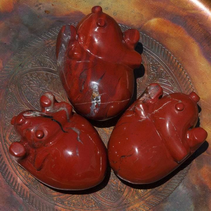 Red Jasper Warrior Anatomical Hearts