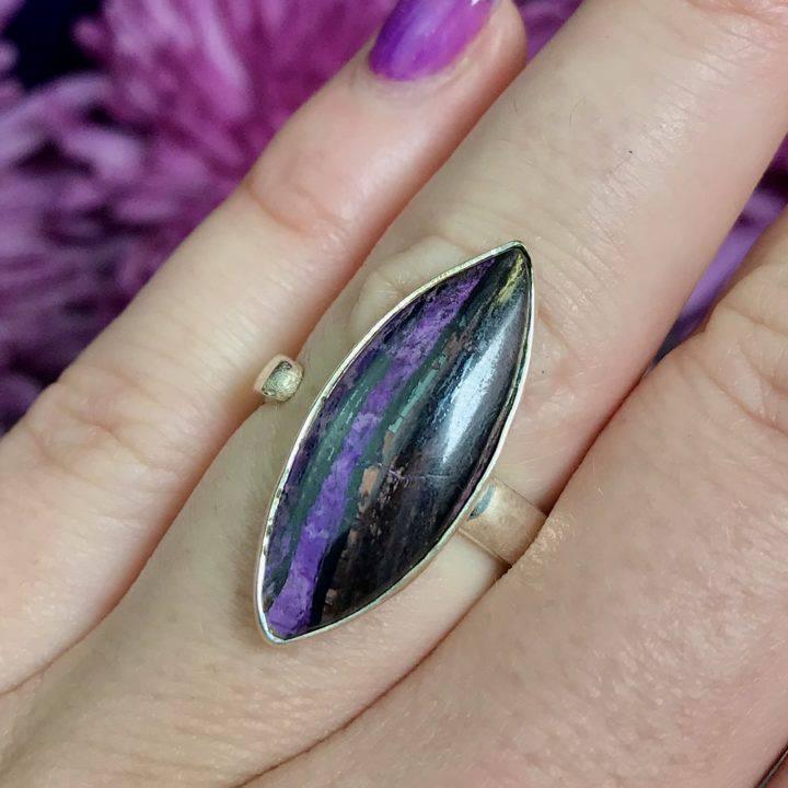 Sugilite Adjustable Ring