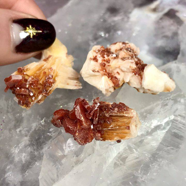 Vanadinite Crystal Clusters