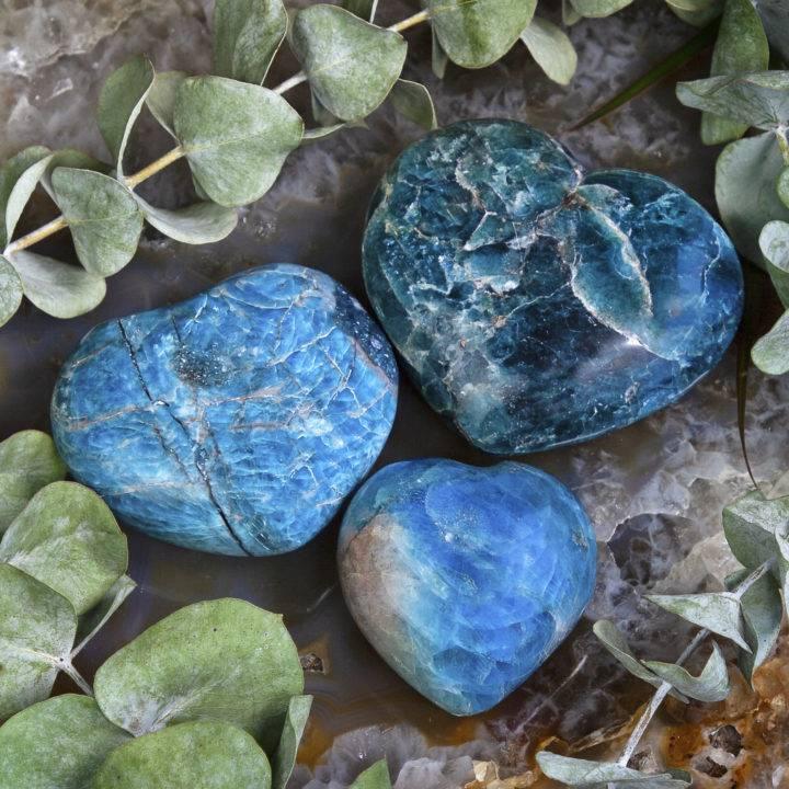 Authentic Love Blue Apatite Hearts