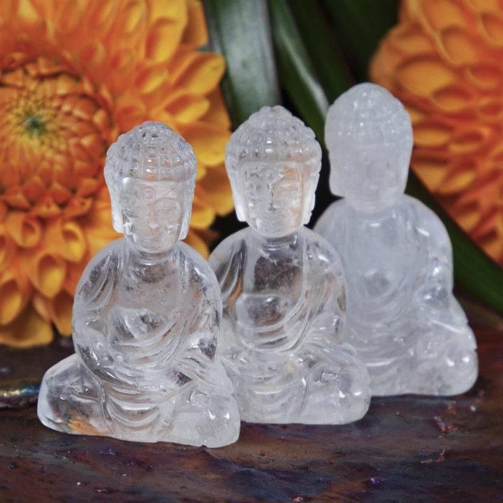 Clear Quartz Buddhas