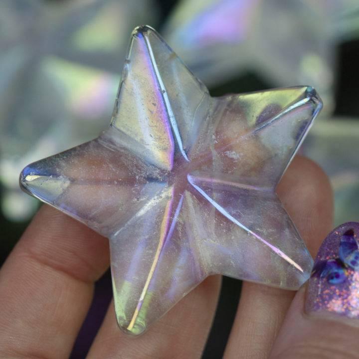 Cosmic Angel Aura Quartz Stars