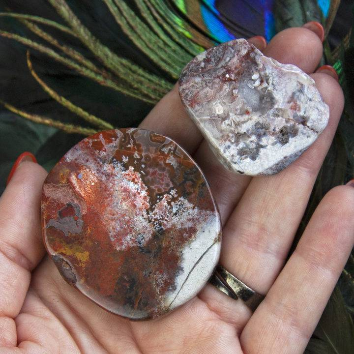 Crazy Lace Agate Peace and Protection Slices