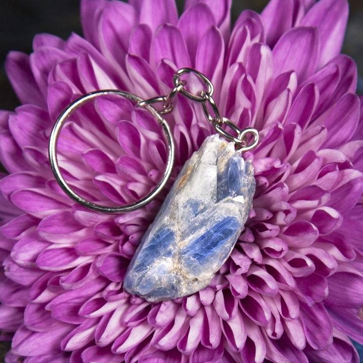 Divine Alignment Blue Kyanite Keychains