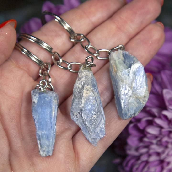 Divine Alignment Blue Kyanite Keychains