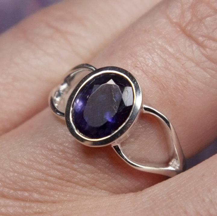 Faceted Iolite Visioning Rings