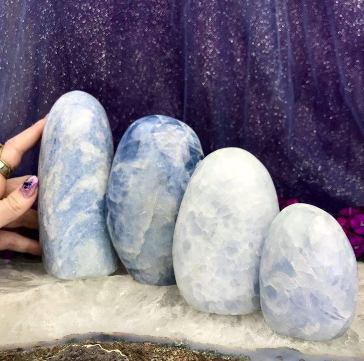 Blue Calcite Pillars