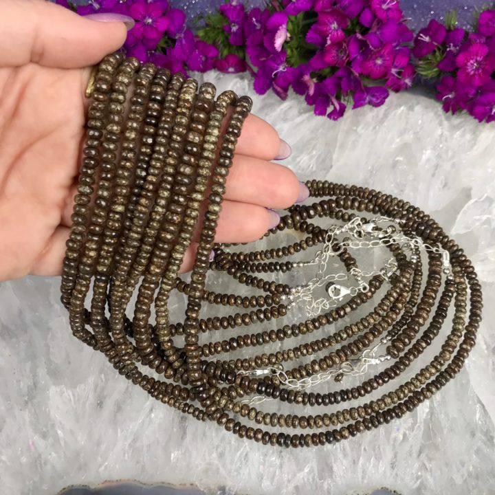 Meteorite Beaded Necklace