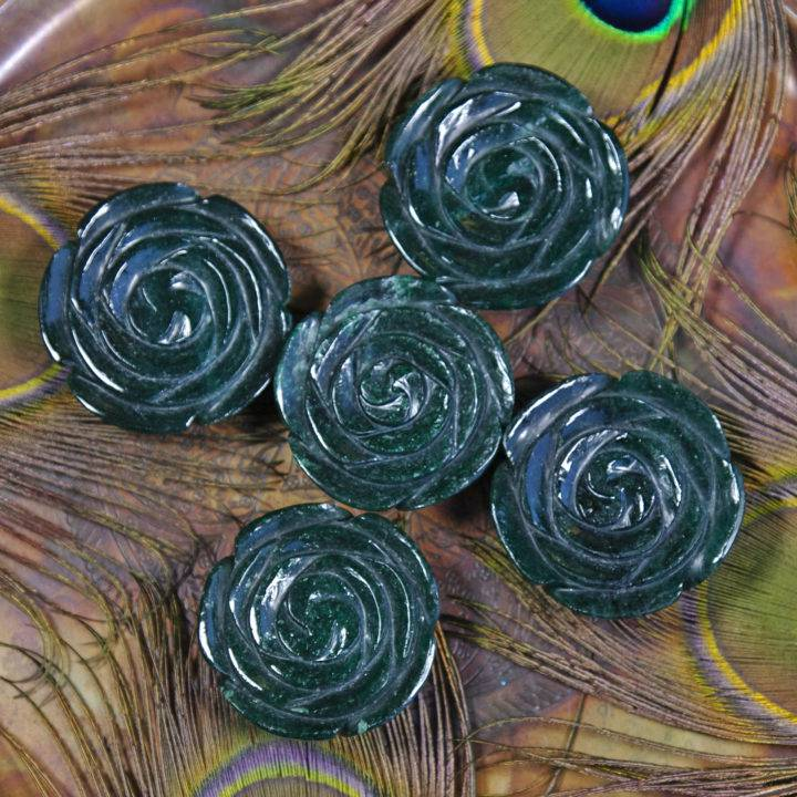 Green Aventurine Roses