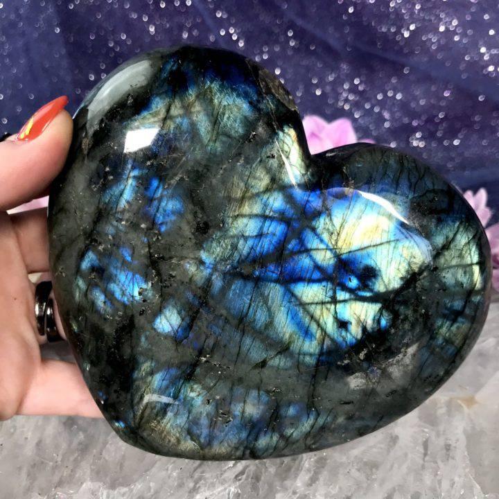 Jumbo Labradorite Heart