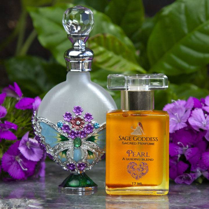Limited Edition Pearl Perfume and Butterfly Perfume Bottle Duo