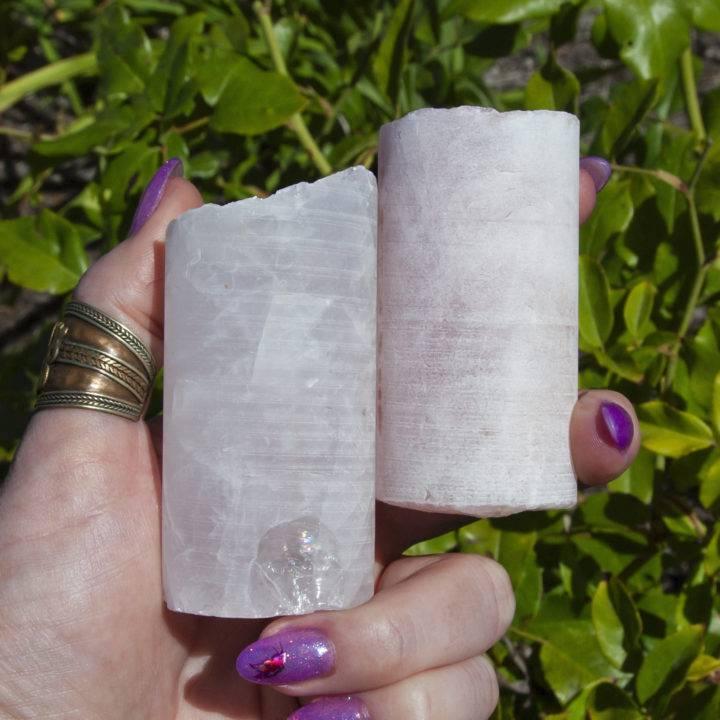 Rose Quartz Crystal Healing Wands