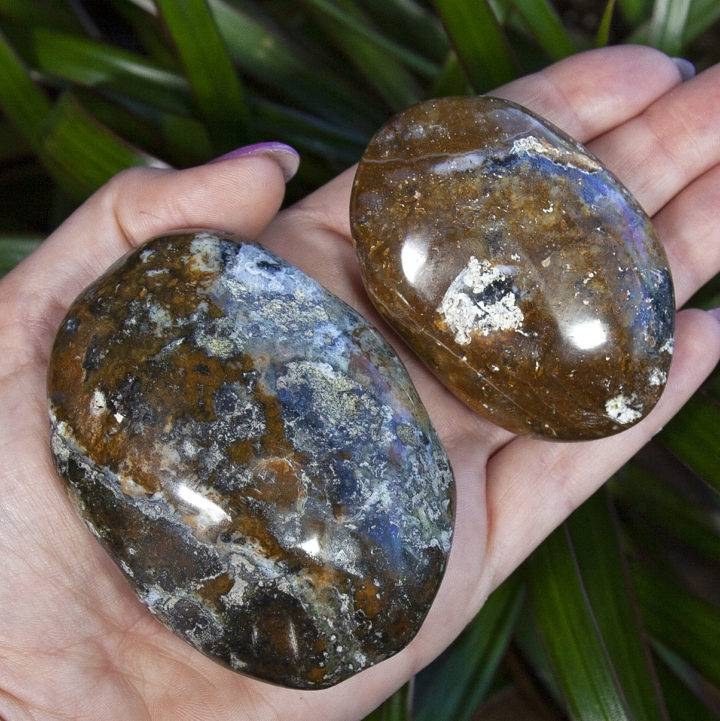 Yellow Opal Solar Power Palm Stones