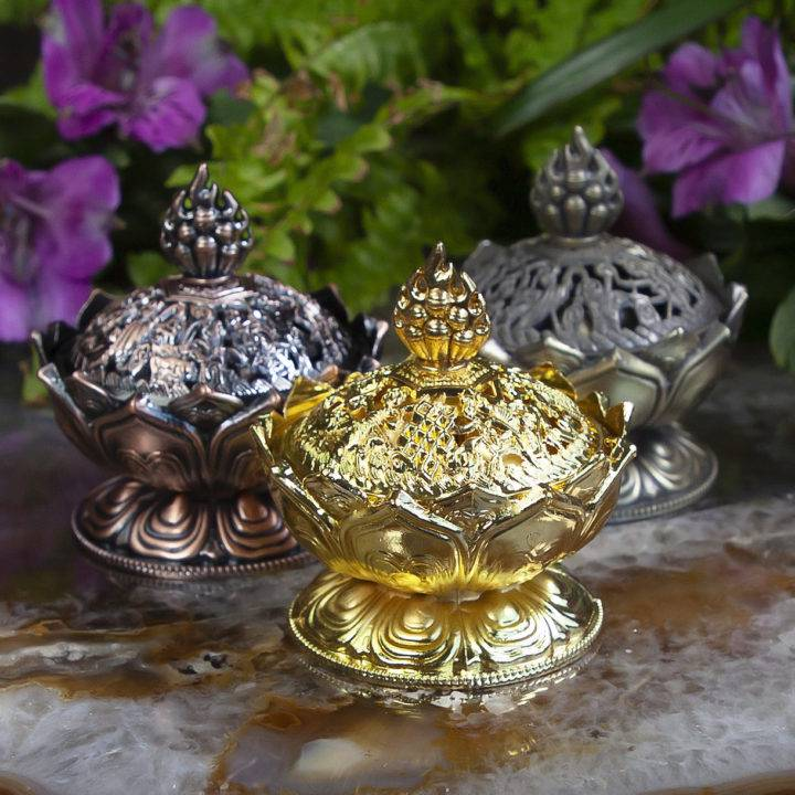 Tibetan Lotus Incense Burners