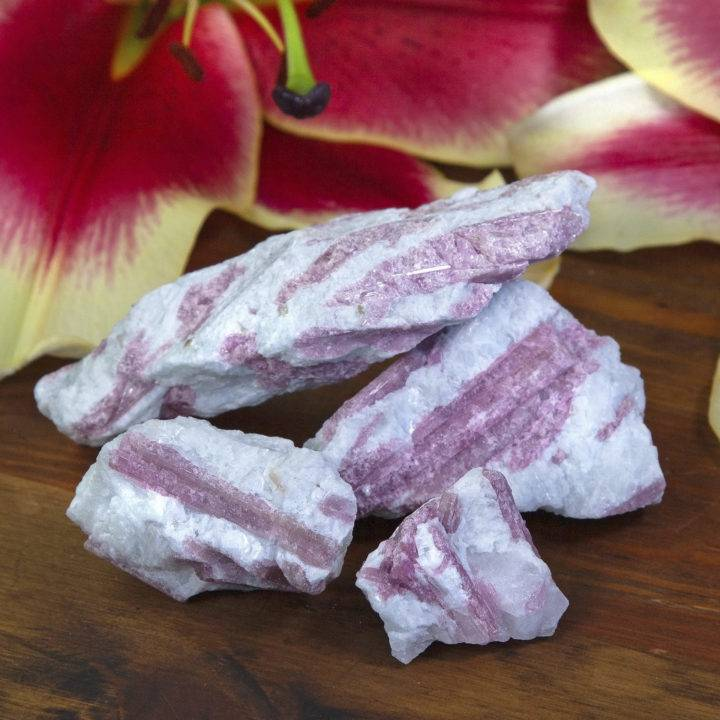 Natural Pink Tourmaline in Matrix