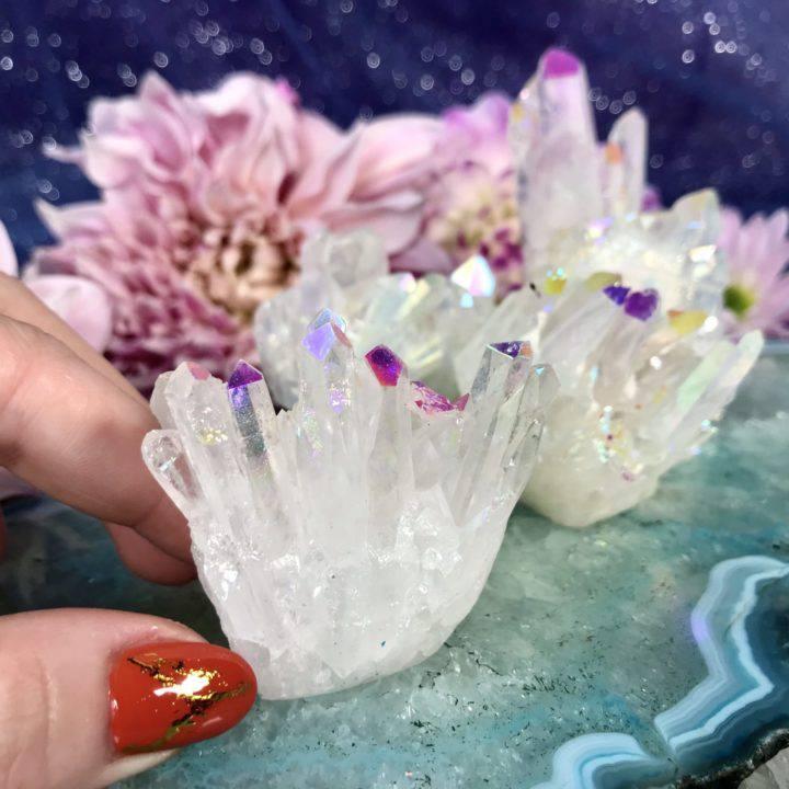 Opal Aura Quartz Clusters