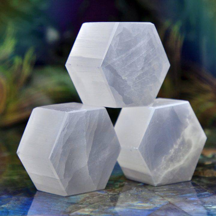 Selenite Moon Magic Hexagons