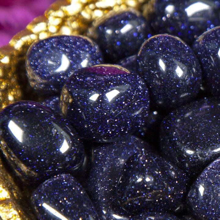 Tumbled Blue Goldstone