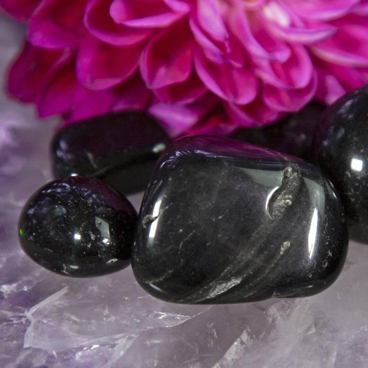 Tumbled Silver Sheen Obsidian