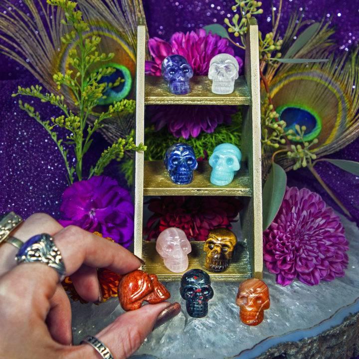 9 Chakra Crystal Skull Set