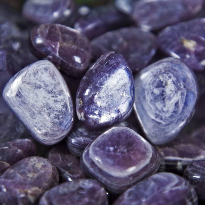 AAA Grade Tumbled Lepidolite