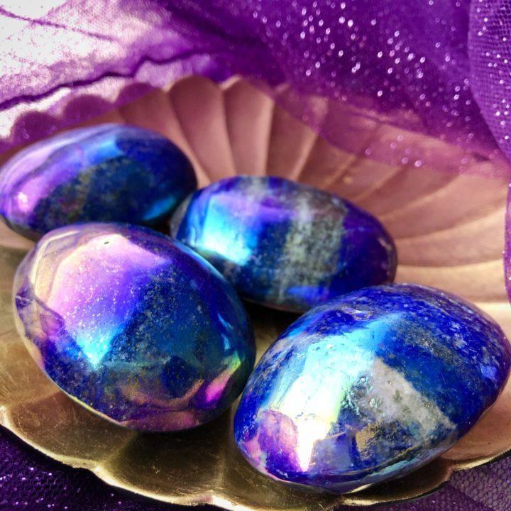 Angel Aura Lapis Lazuli Palm Stones