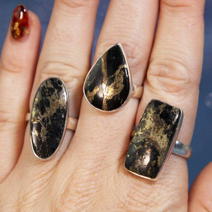Apache Gold Sterling Silver Adjustable Rings
