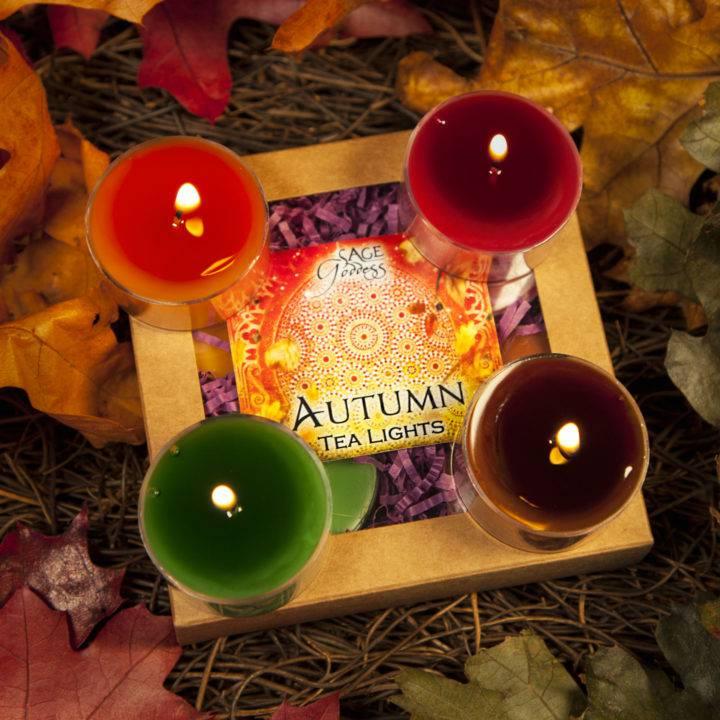 Autumn Tea Lights