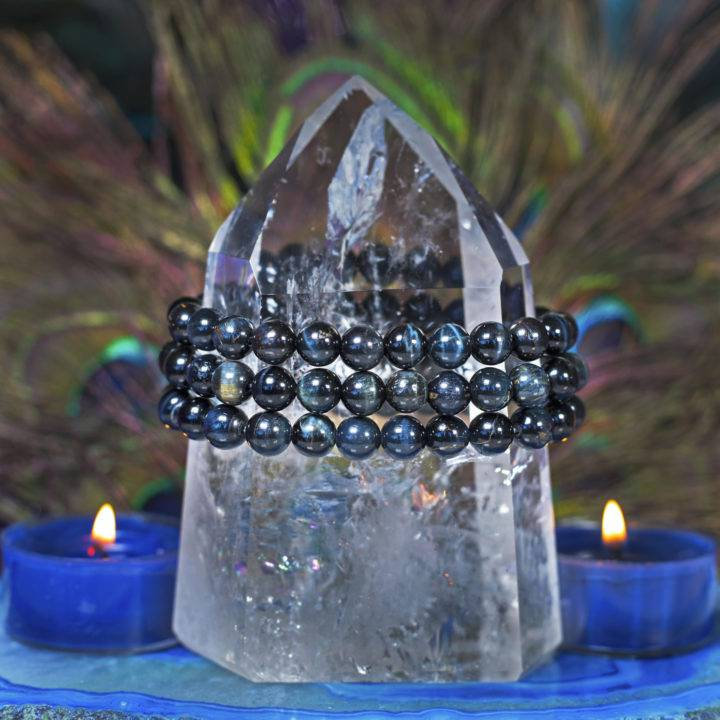 Blue Tiger's Eye Priestess Bracelets