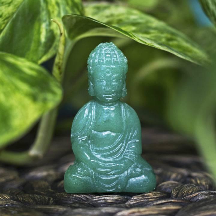 Green Aventurine Good Fortune Buddhas