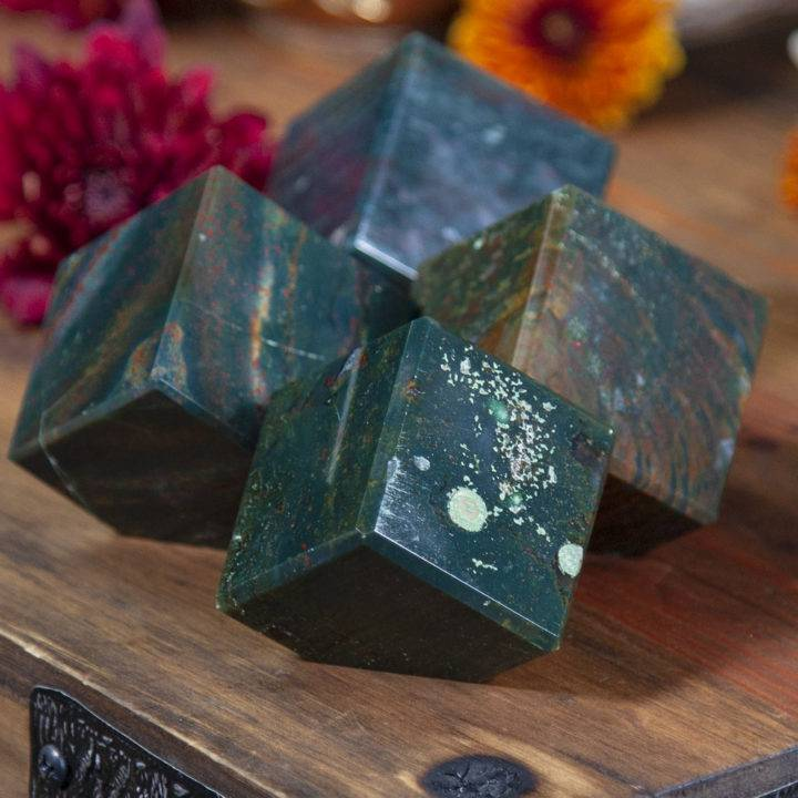 Healing and Stability Bloodstone Cubes