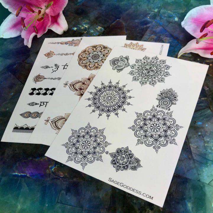 Henna Mandala Flash Tattoo 3 Packs