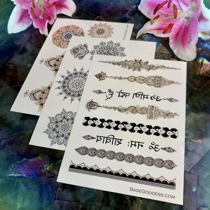 Henna Mandala Flash Tattoo 3 Packs
